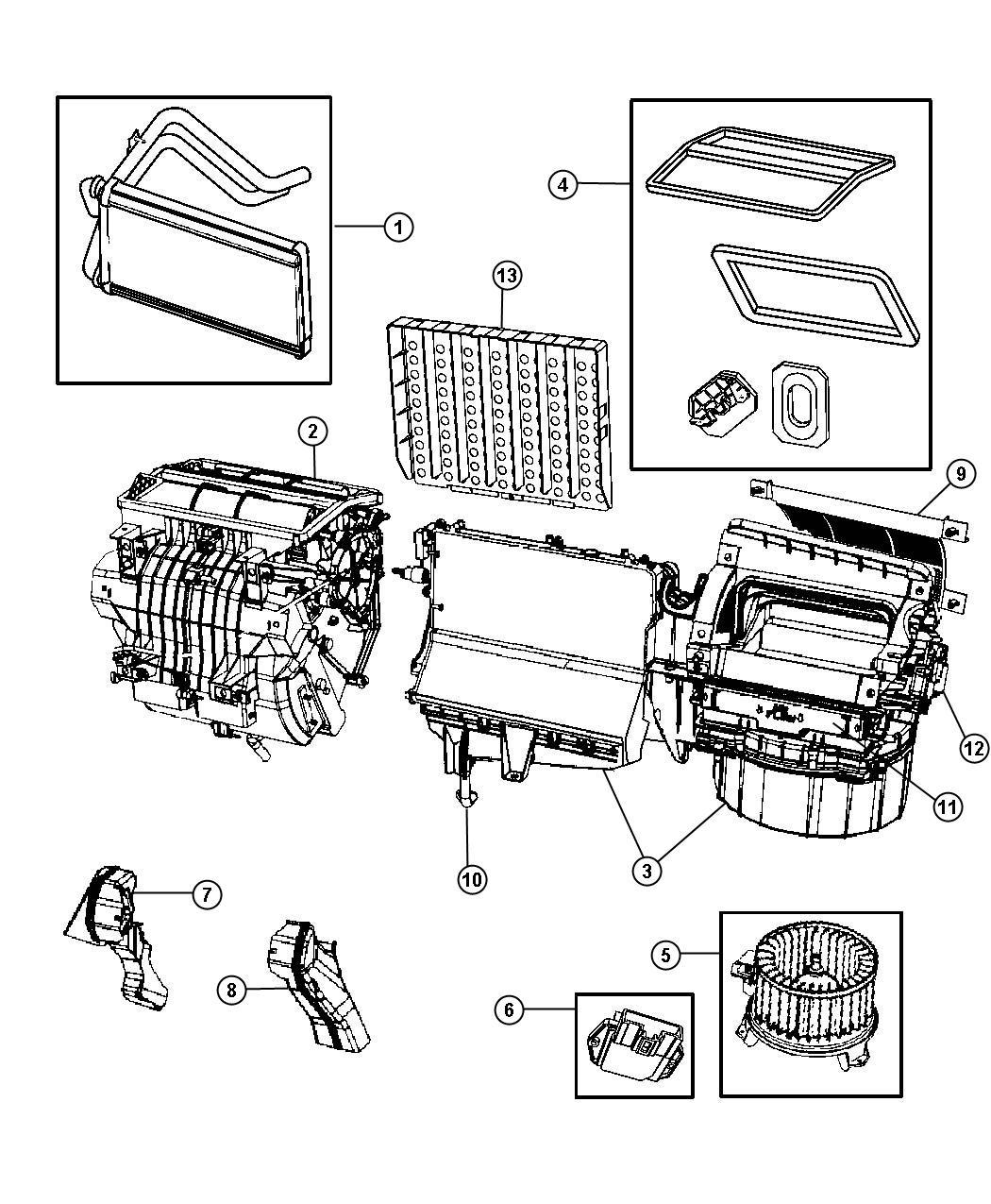 Jeep Wrangler Actuator Blend Door A C And Heater Instrument Module Panel