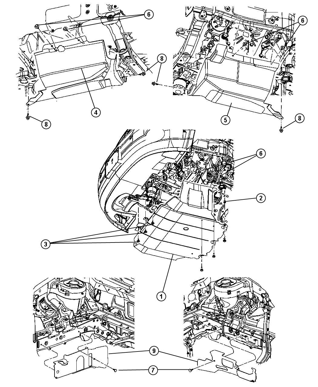 Dodge Caliber Shield Accessory Drive Trans Engine