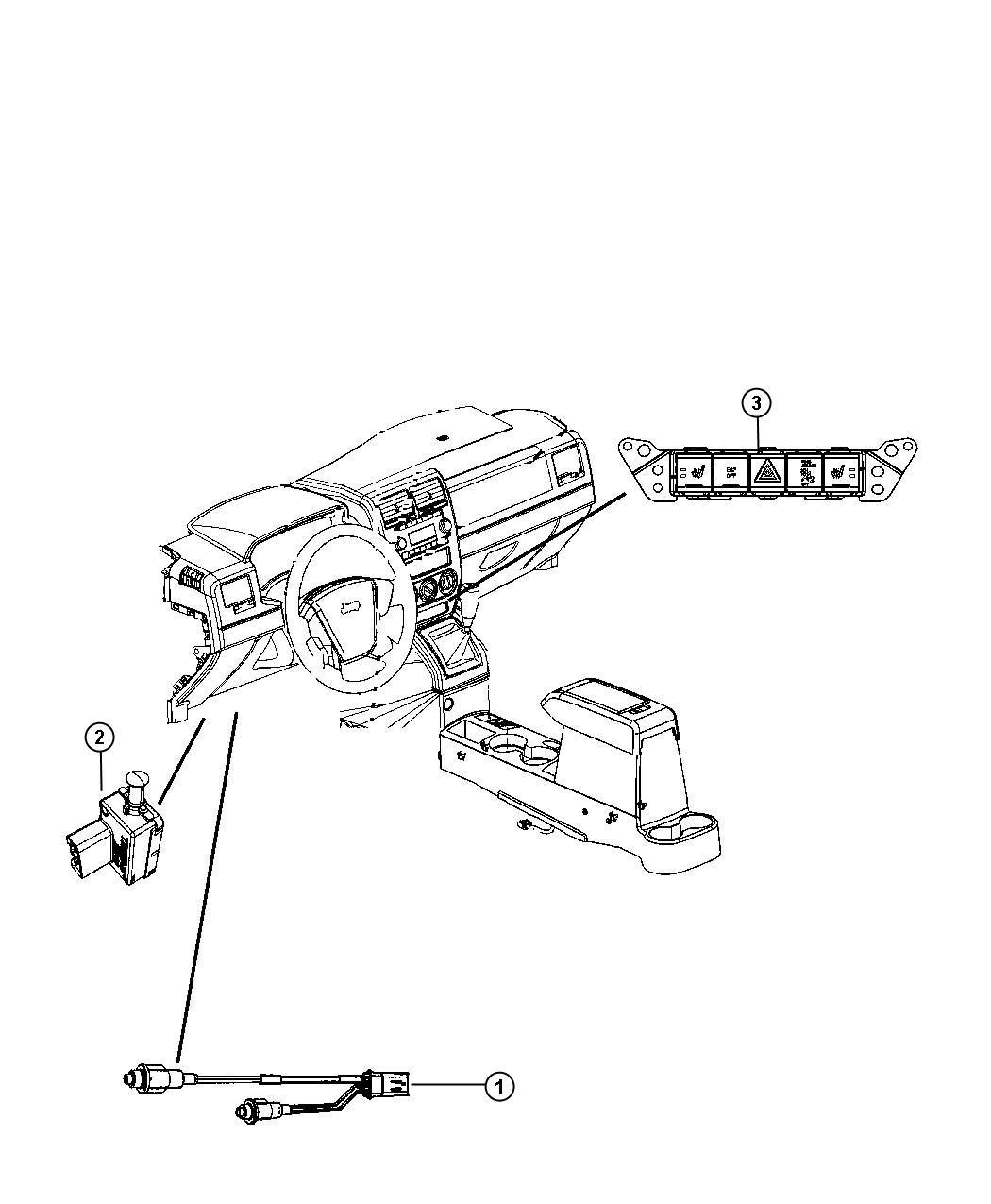 Dodge Caliber Switch Clutch Starter Interlock 5