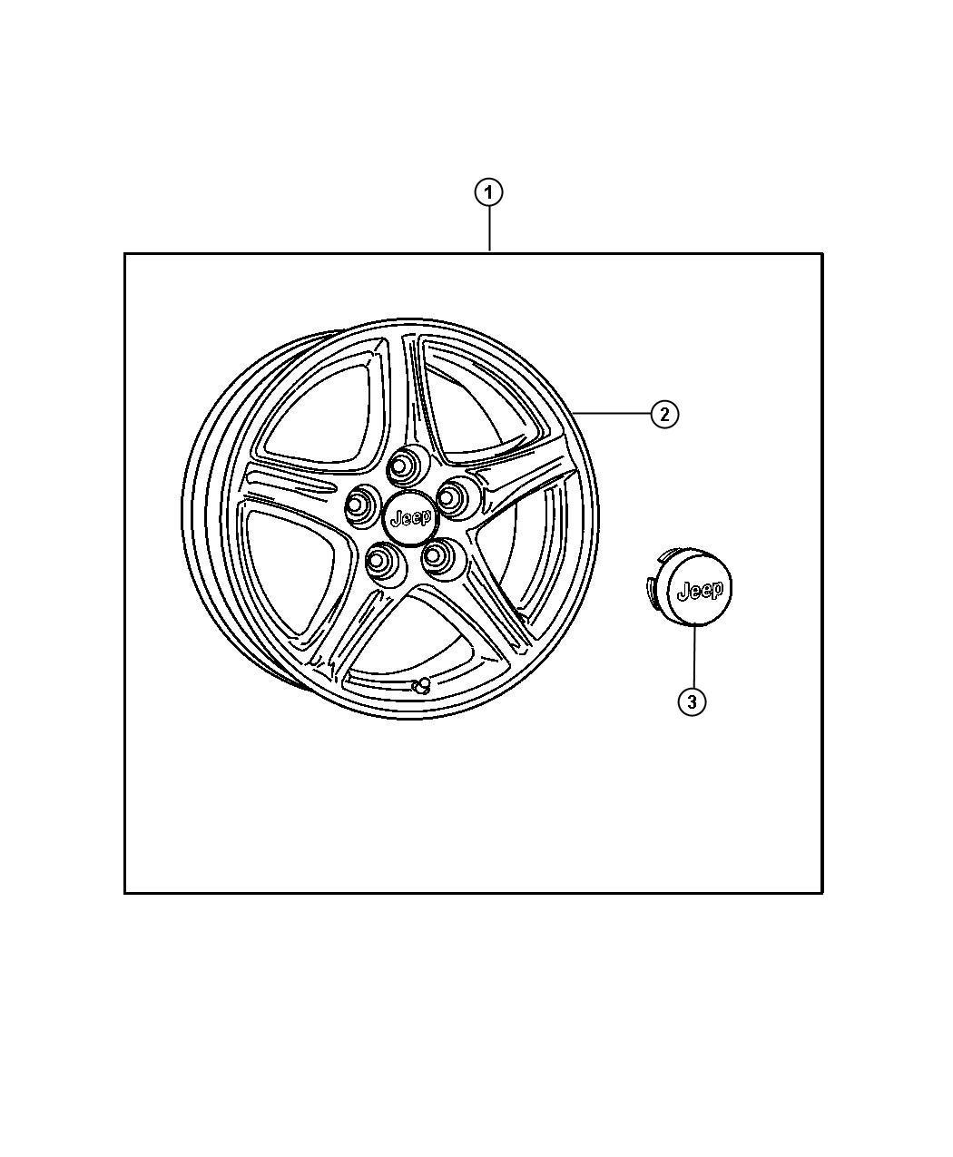 Jeep Wrangler Wheel Kit Cast Aluminum Inch Finish