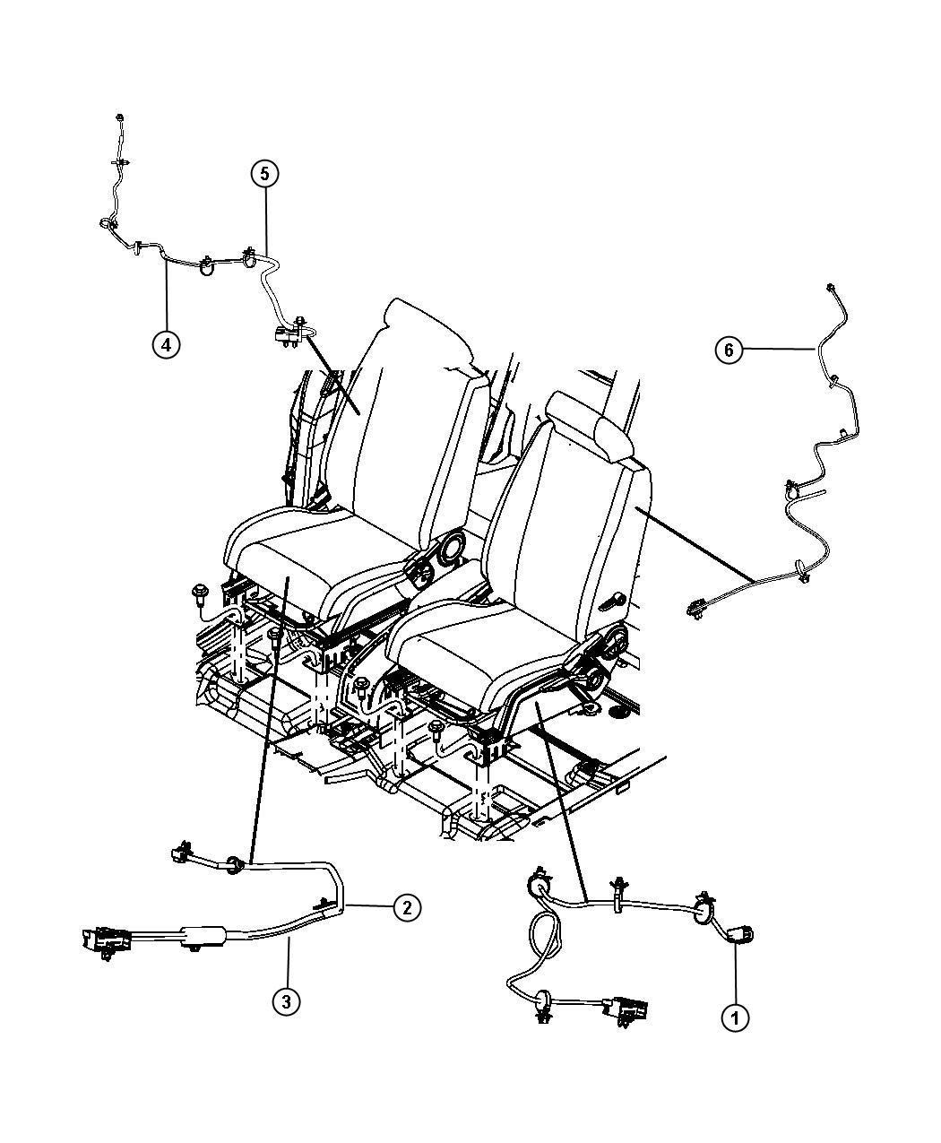 Dodge Journey Wiring Power Seat Seat Trim Prem Cloth