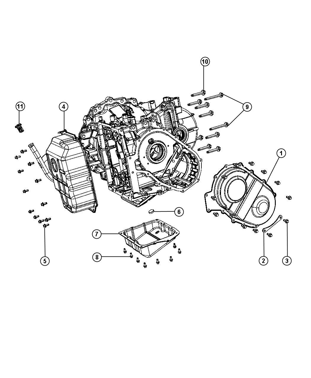 Chrysler Town Amp Country Cover Valve Body Gear