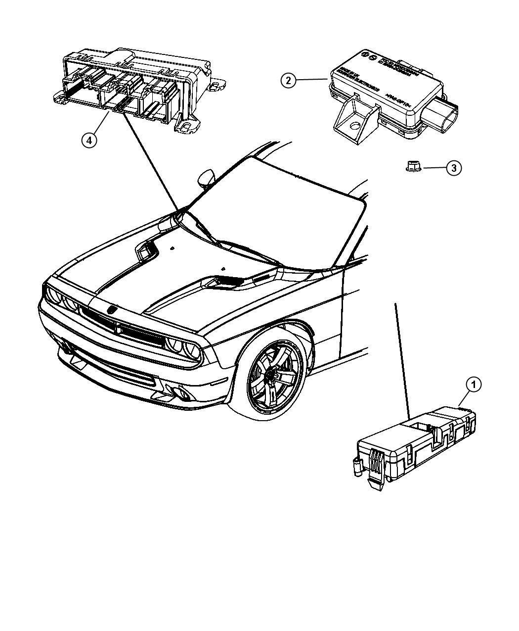 Dodge Challenger Module Tire Pressure Monitoring