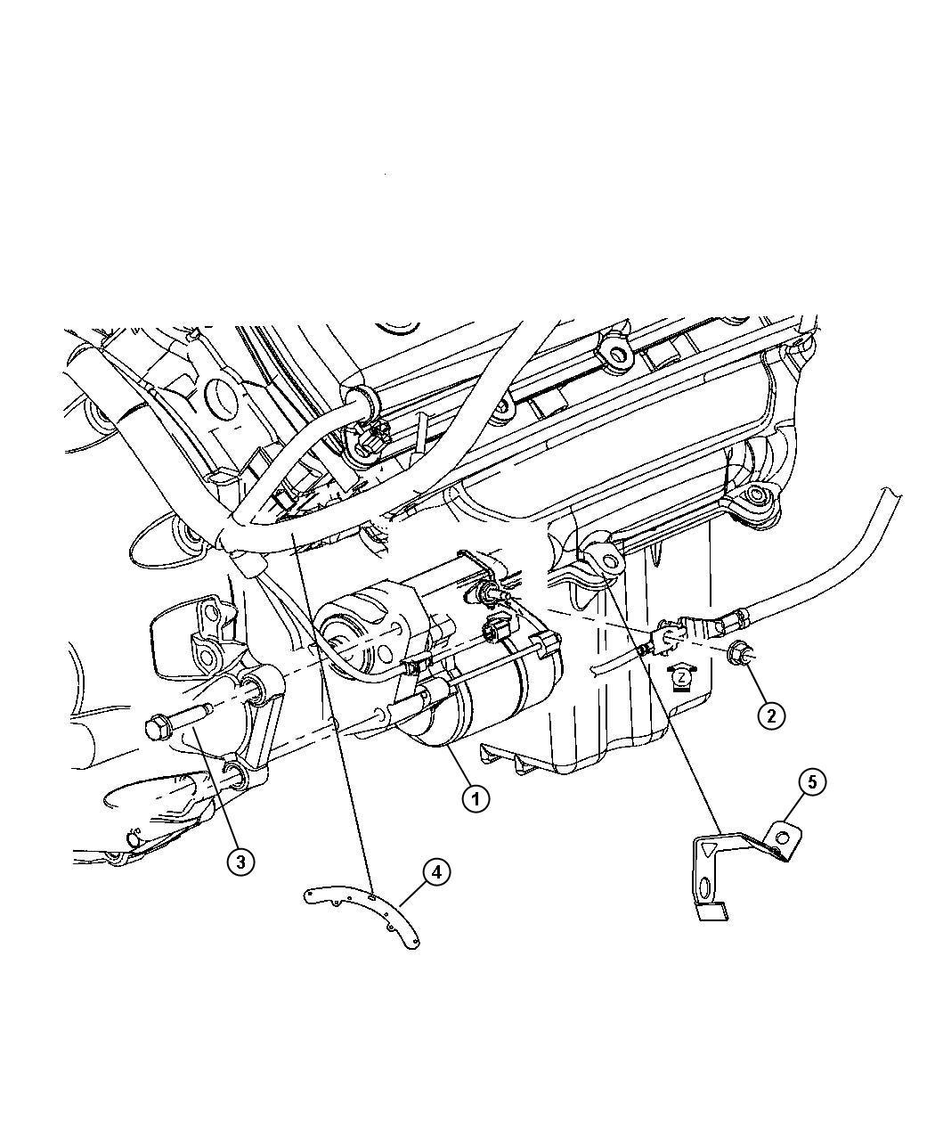 Chrysler 300 Bracket Wiring Harness Starter Engine