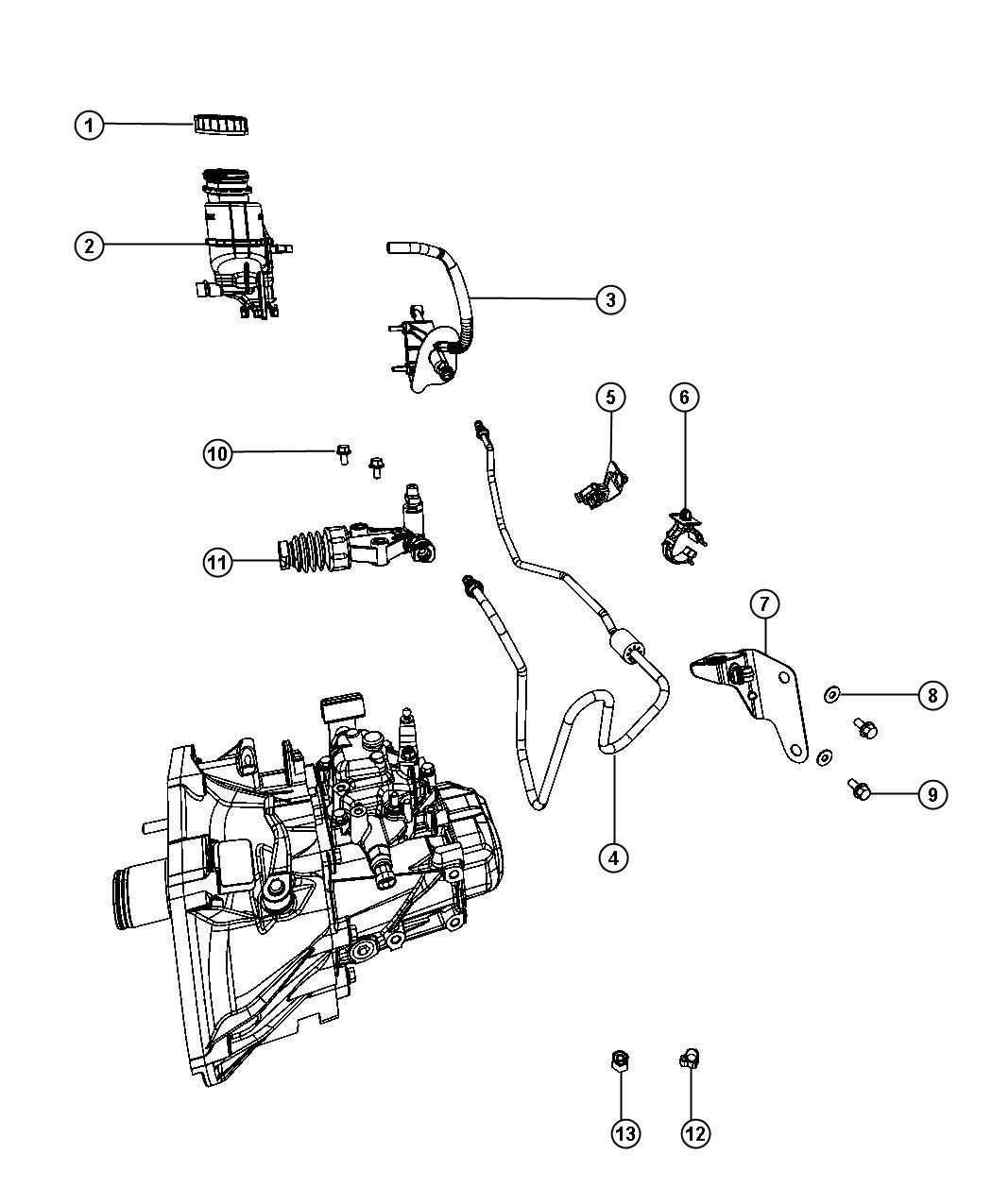 Fiat 500 Slave Cylinder Assembly Clutch After 03 01