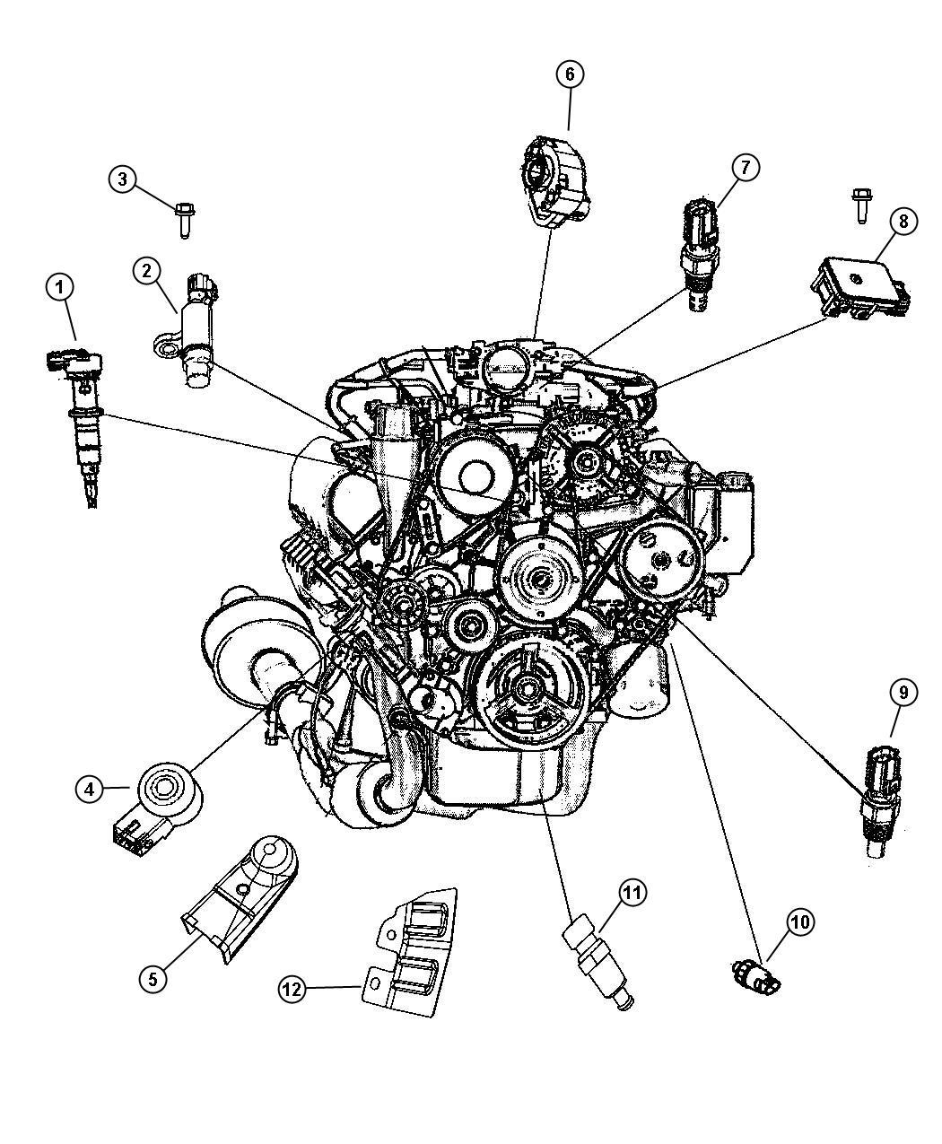Dodge Stratus Sensor Knock Engine Sensors Hemi