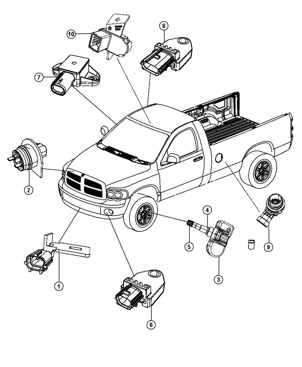 Jeep Liberty Sensor Infrared Trim O0 Rear Power System