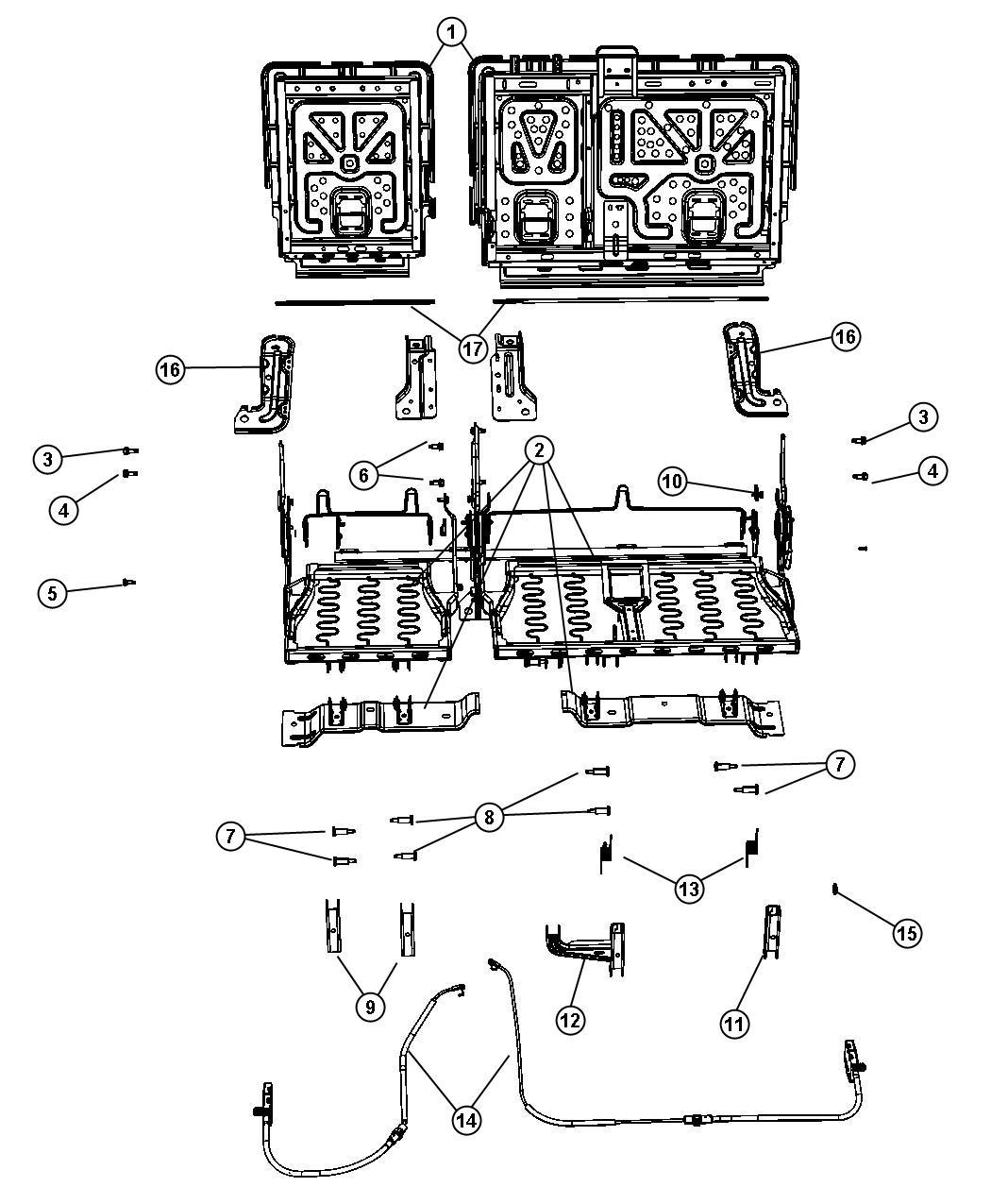 Jeep Grand Cherokee Torsion Bar Right Seat Parts