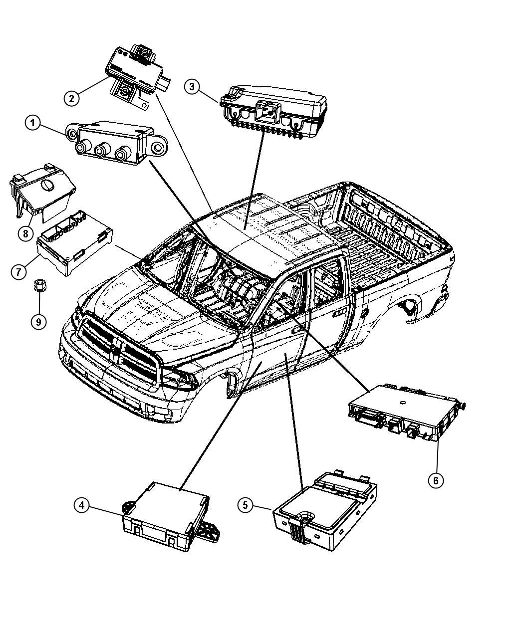 Dodge Ram Module Seat Memory Trim Cloth Low