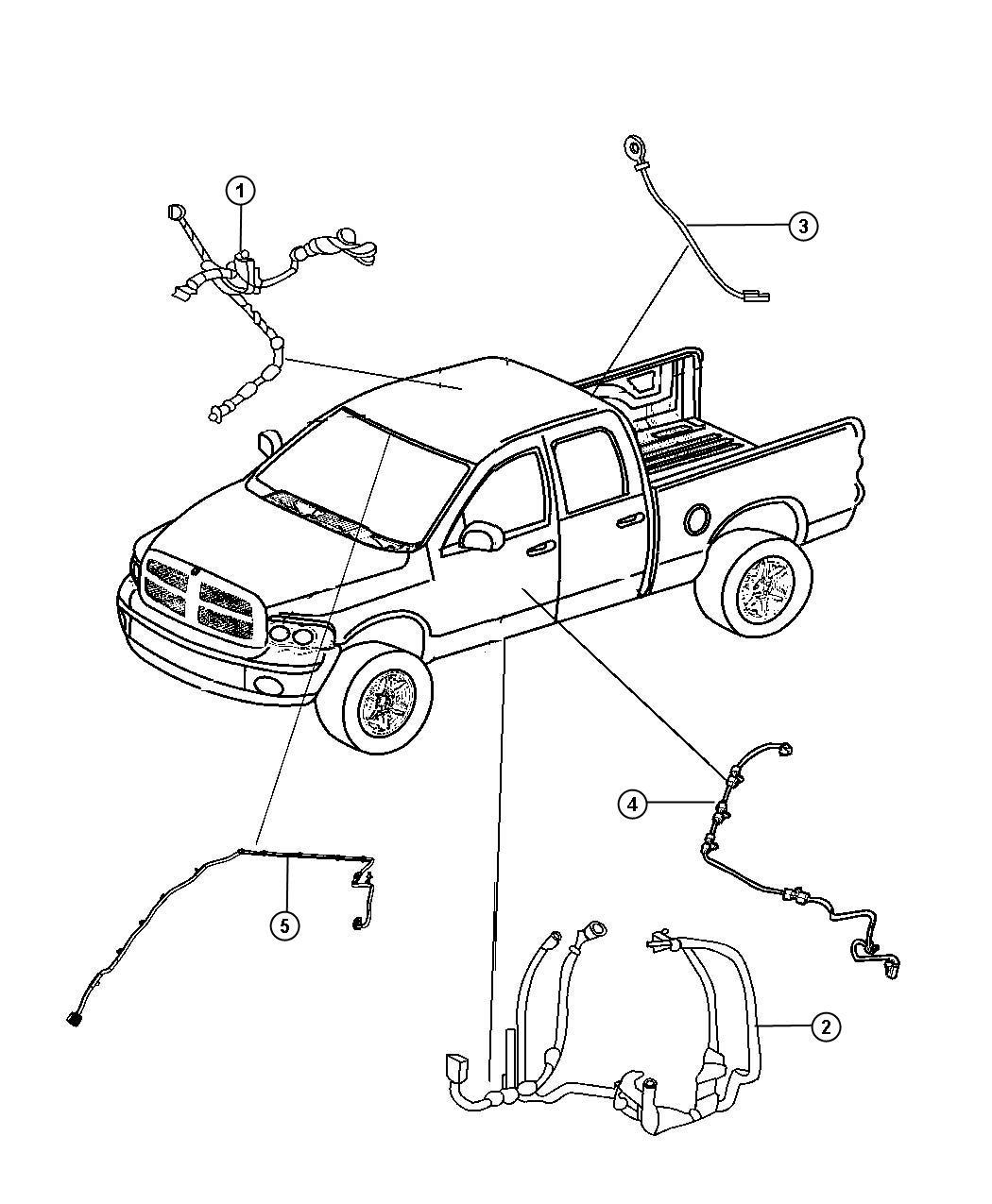 Dodge Ram Wiring Body Rear Video System