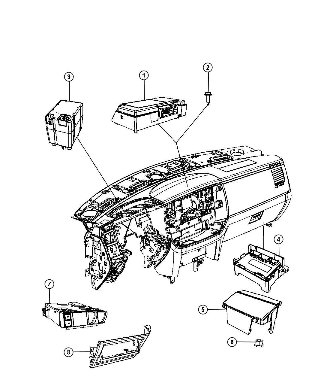Dodge Ram Module Transfer Case Control Shift New Return