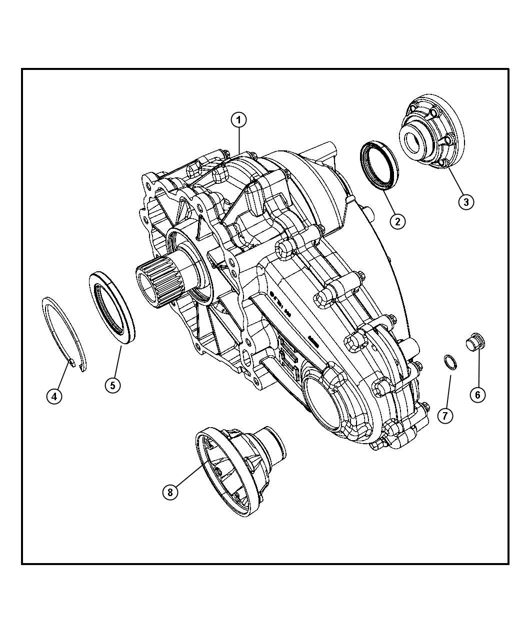 Jeep Grand Cherokee Transfer Case Dhy Assembly