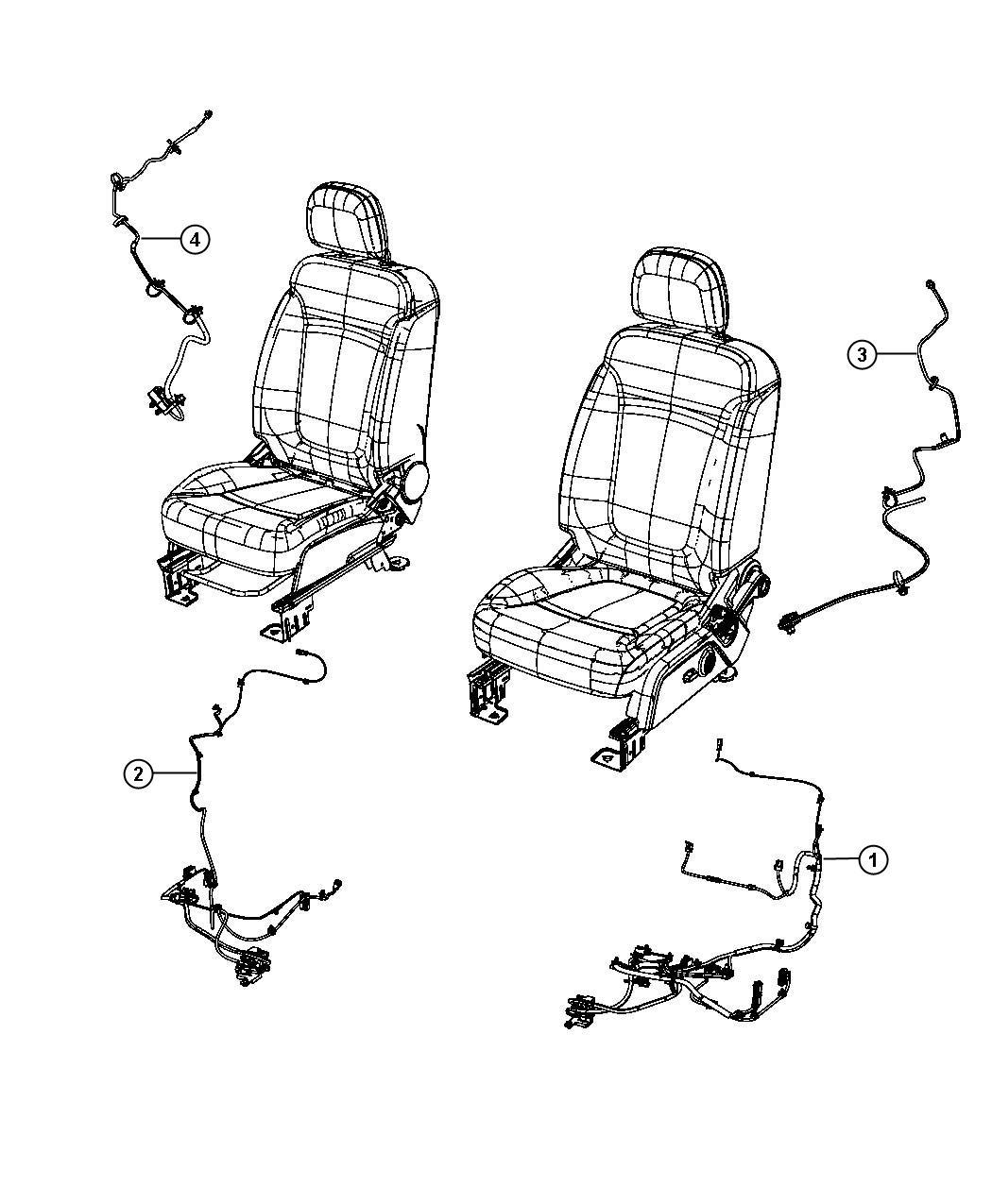 Dodge Journey Wiring Power Seat Seat Export Trim