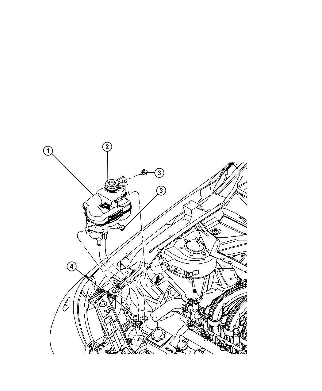 Chrysler 200 Bottle Pressurized Coolant Cooling