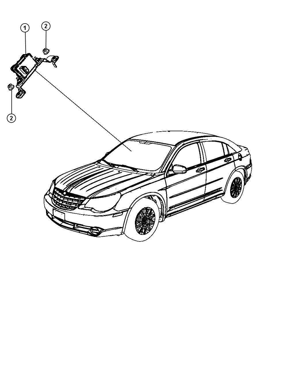 Chrysler 200 Sensor Dynamics Used For Lateral Acceleration And Yaw Rate Electronic