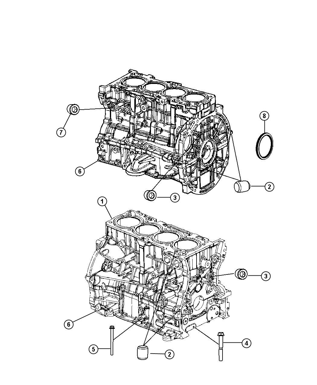Chrysler 200 Engine Short Block