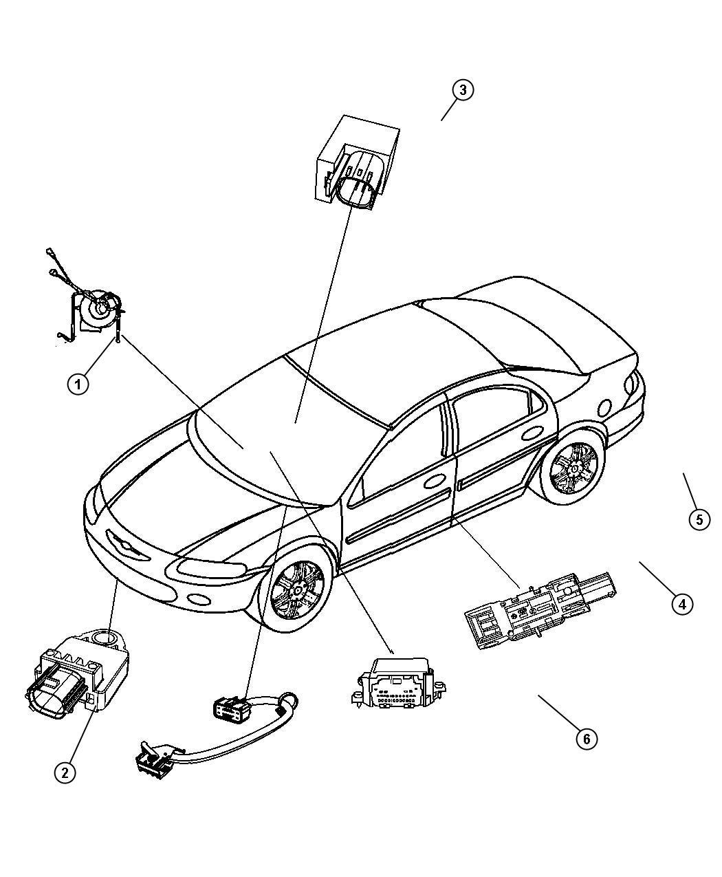 Chrysler 200 Module Air Bag Control Occupant