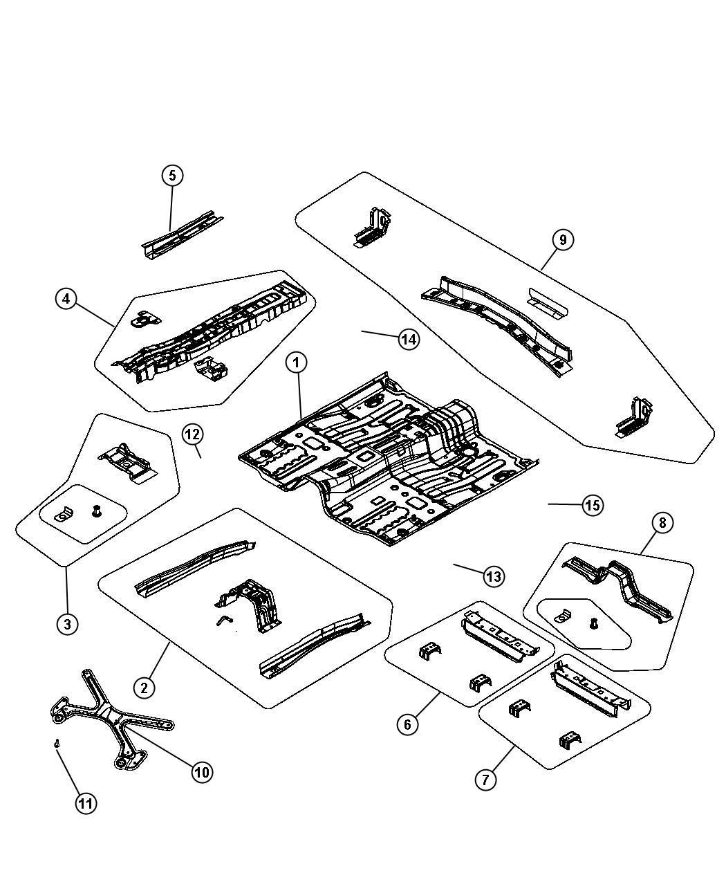 Dodge Avenger Bracket Console Pan Front Floor