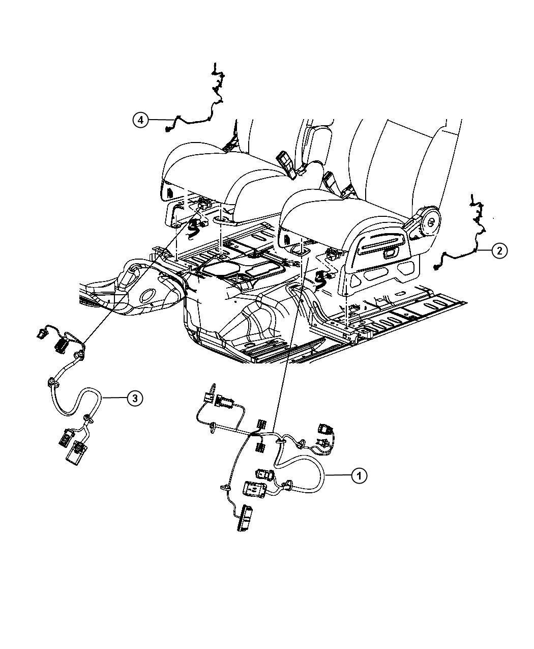 Jeep Liberty Wiring Seat Trim Cloth Low Back Bucket