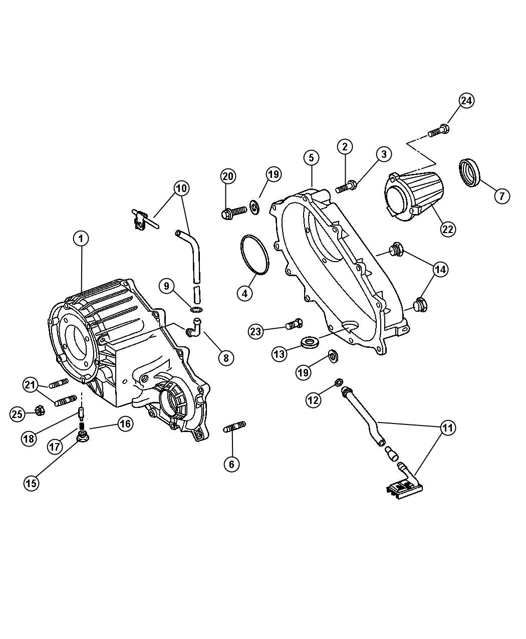 Jeep Liberty Retainer Transfer Case Rear