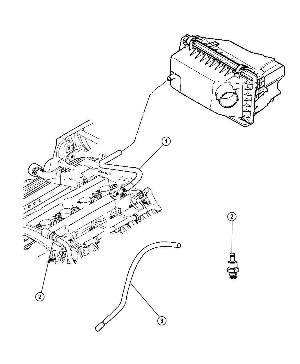 Jeep Patriot Hose Pcv Pcv Valve Ventilation