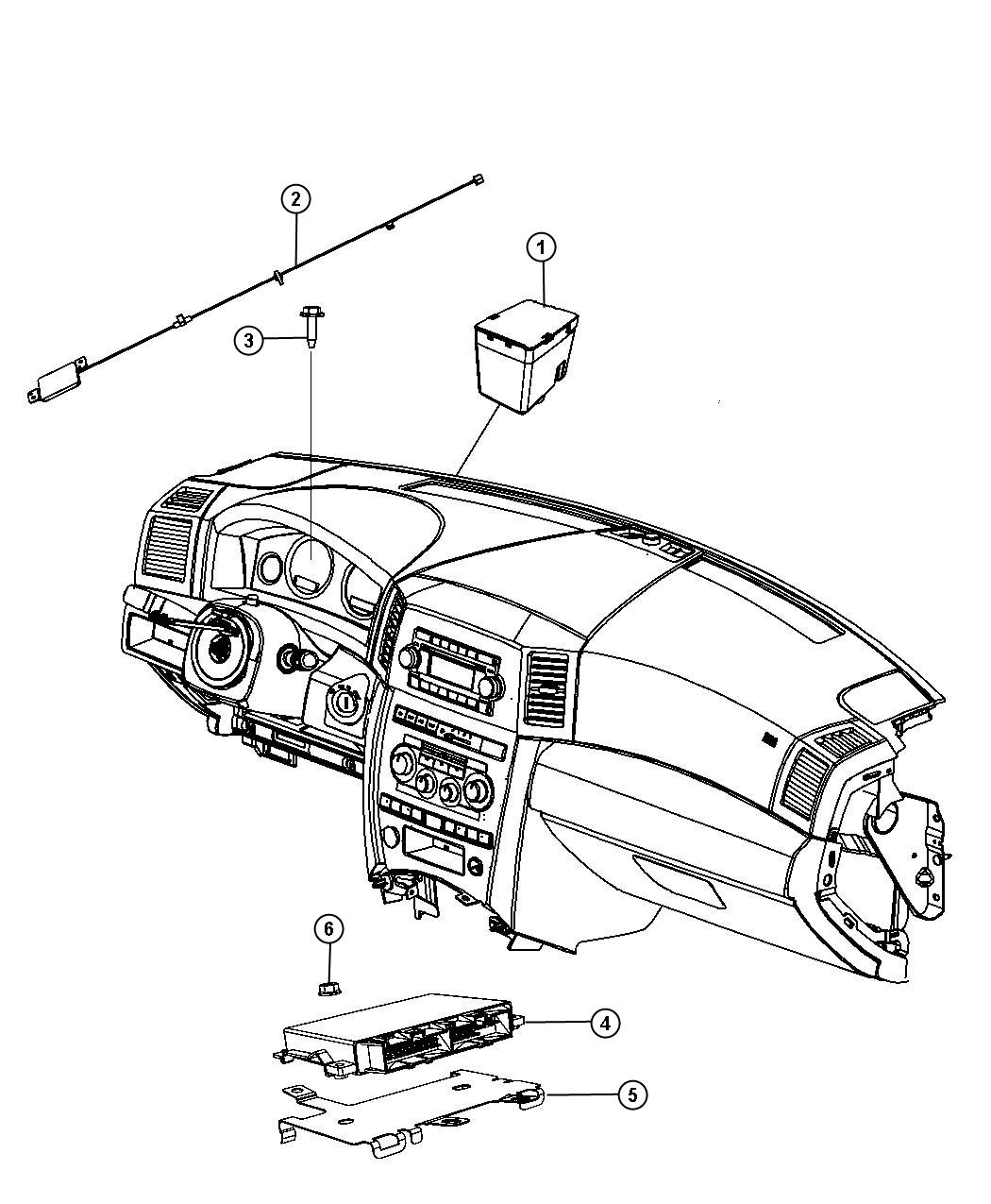 Jeep Liberty Module Transmission Control After 07