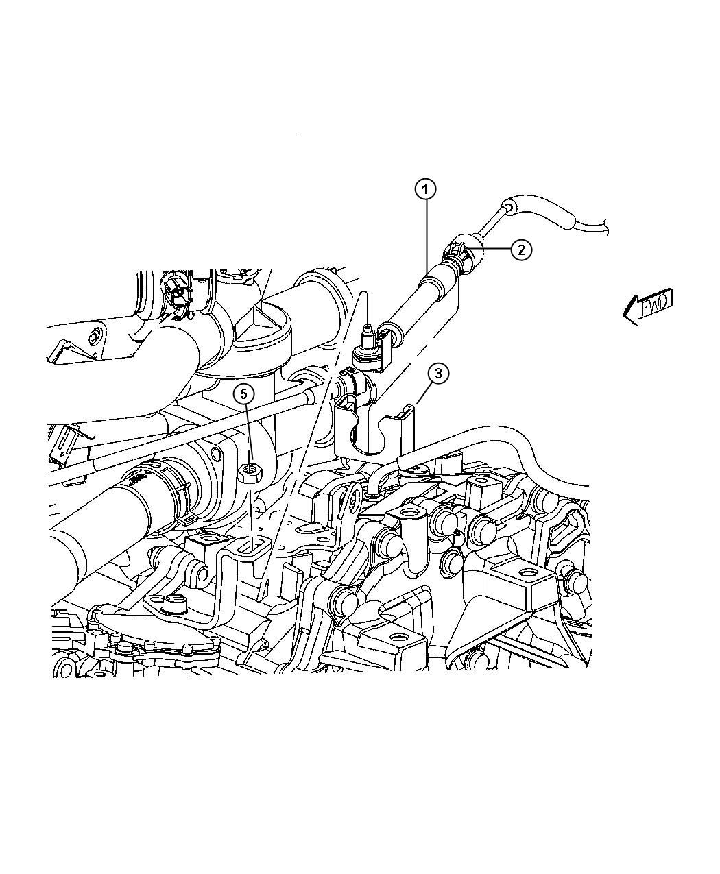 Dodge Caliber Cable Shift Used After 2 22 07 Used