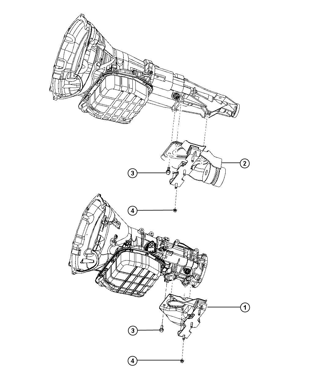 Dodge Ram Insulator Transmission Support Engine