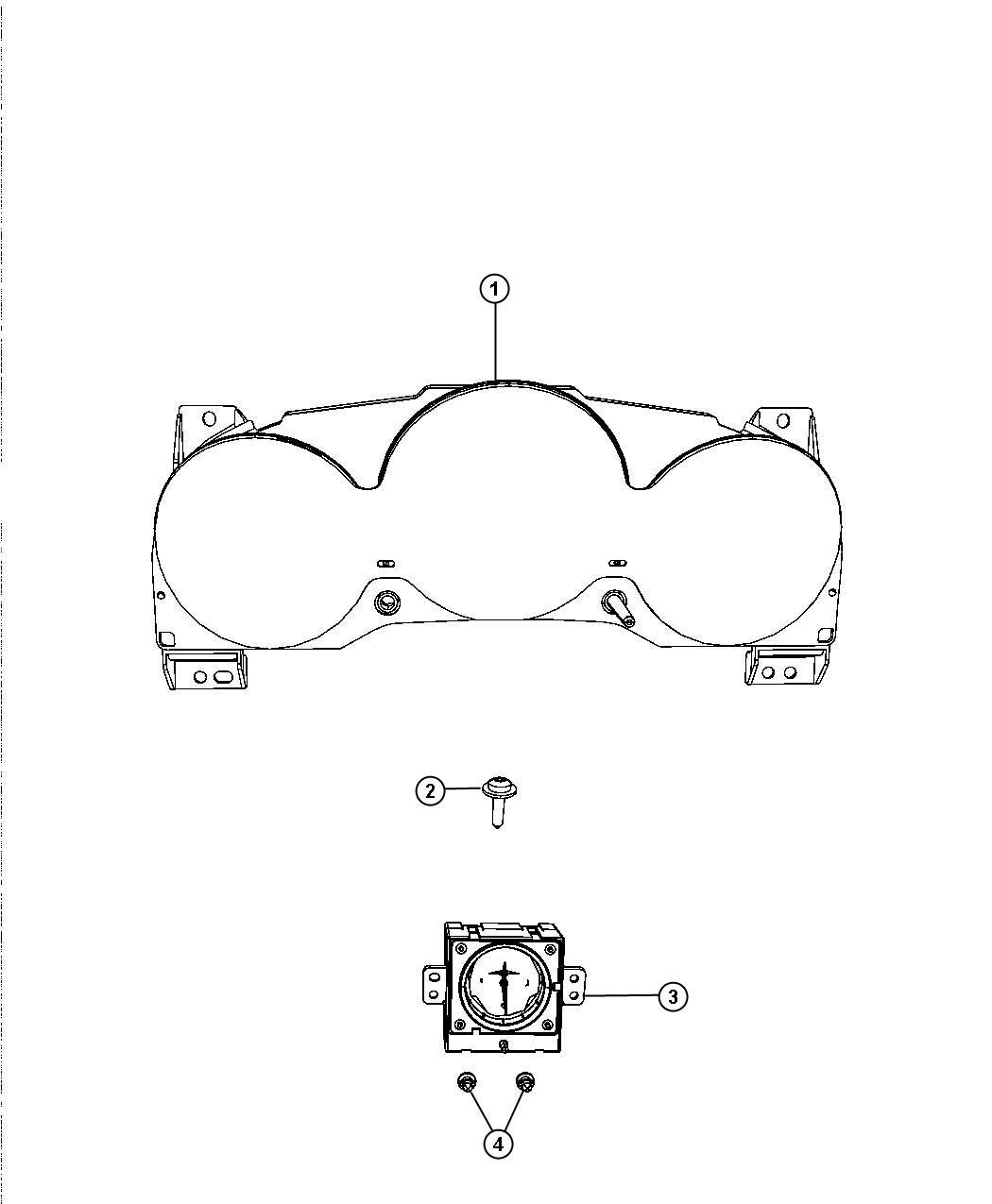 Dodge Avenger Cluster Instrument Panel 120 Mph Primary