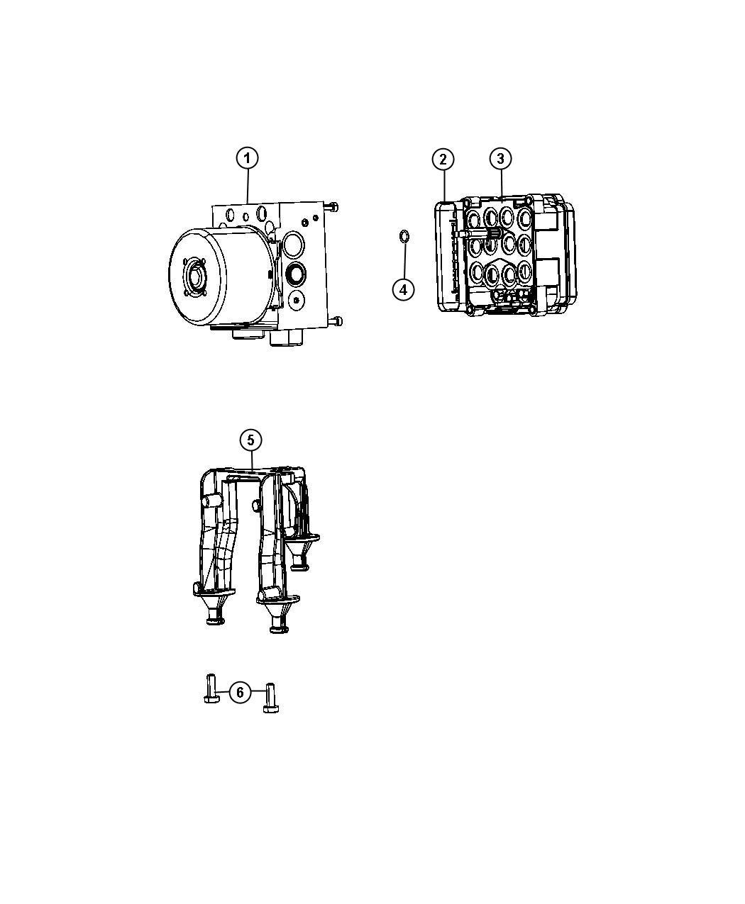 Dodge Charger Control Unit Anti Lock Brake Electronic