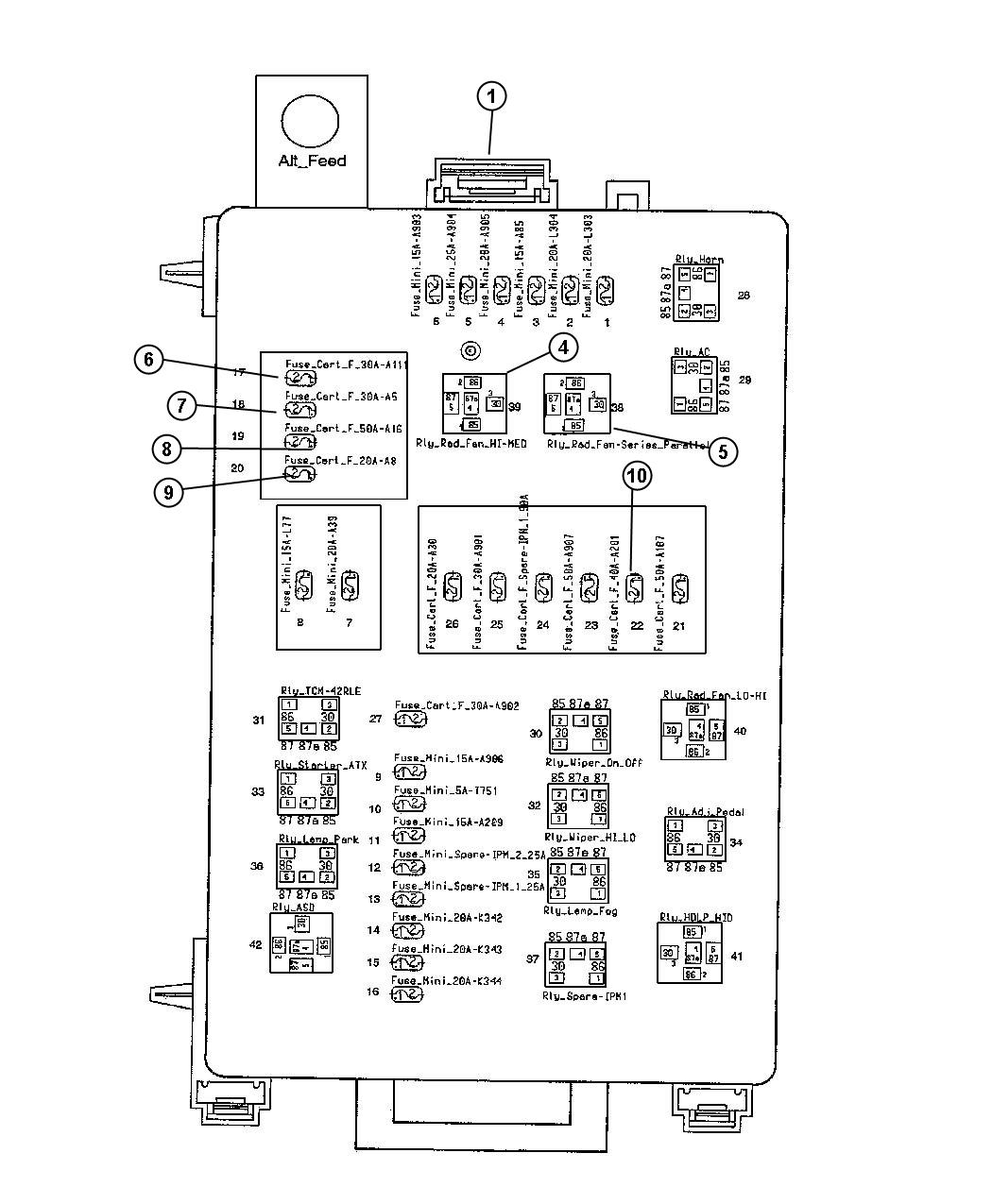 Dodge Challenger Fuse J Case 30 Amp Adaptive