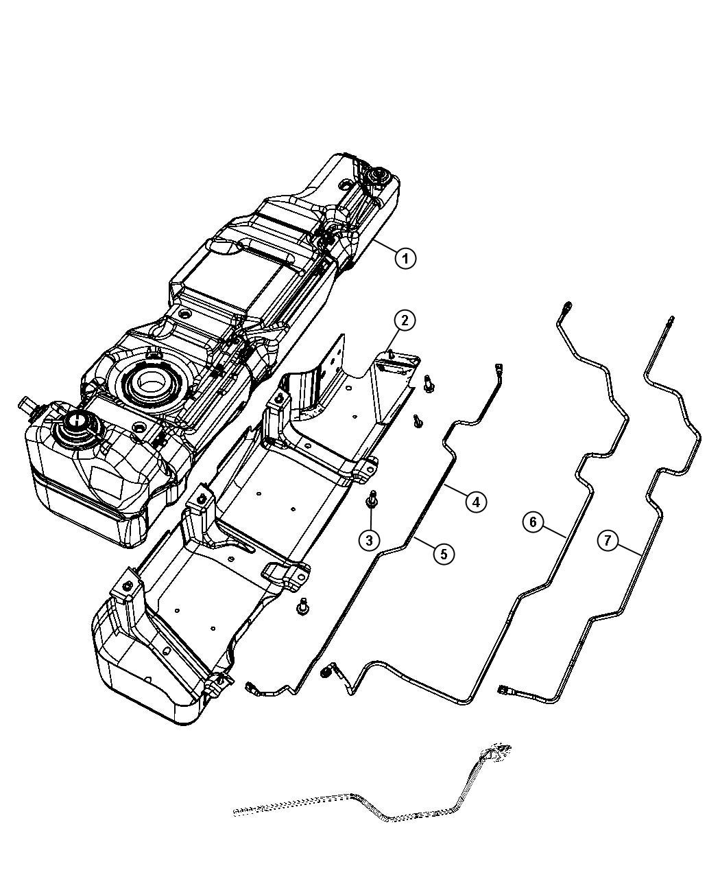 Jeep Wrangler Tube Canister Purge 22 5 Gallon Fuel Tank