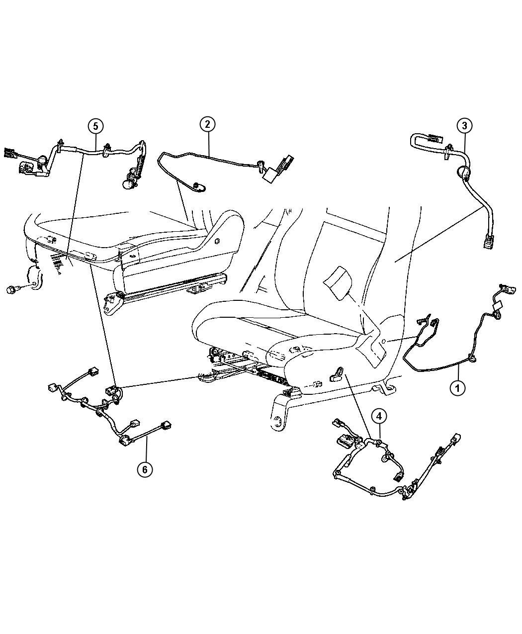 Jeep Grand Cherokee Wiring Seat Recliner Trim Leather