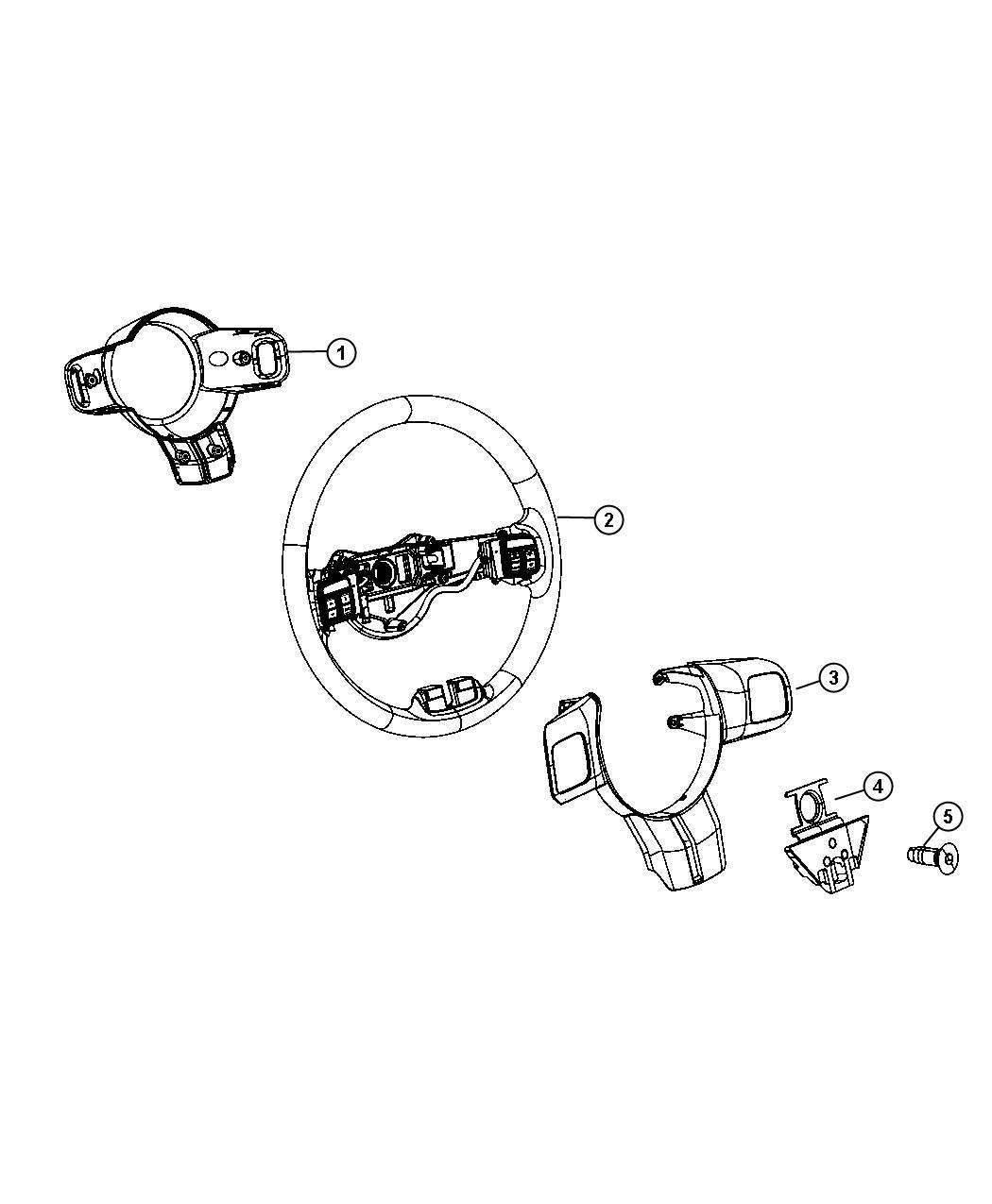 Jeep Grand Cherokee Wheel Steering Export Trim