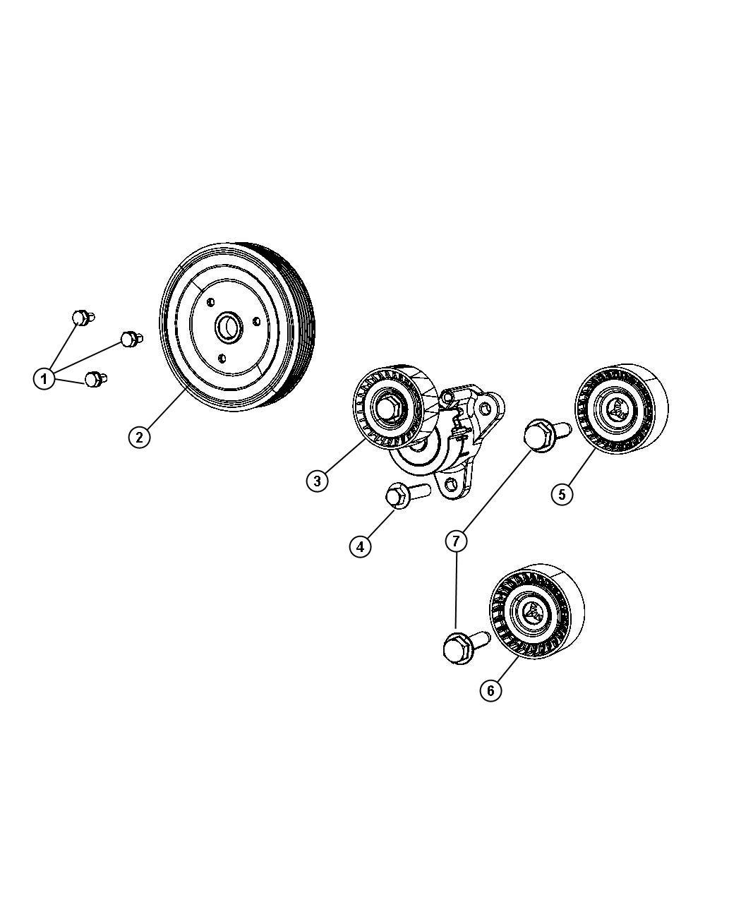 Dodge Caliber Tensioner Belt On Or After 7 1