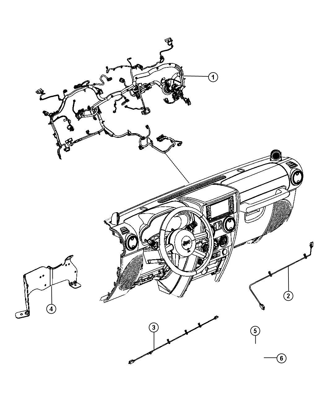 Jeep Wrangler Wiring Instrument Panel Export Manual