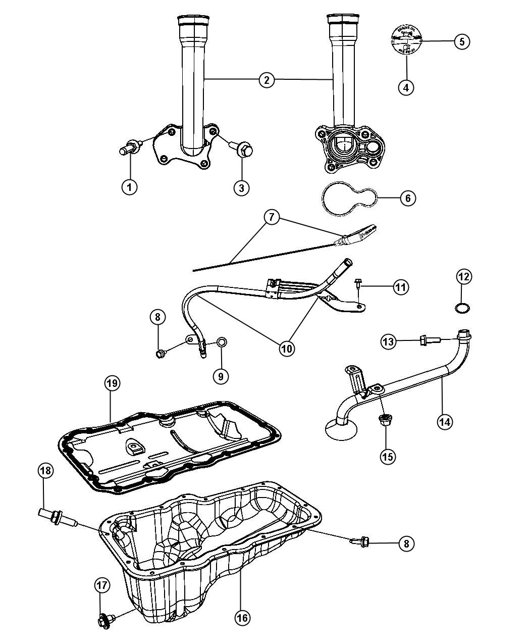 Jeep Liberty Tube Engine Oil Indicator