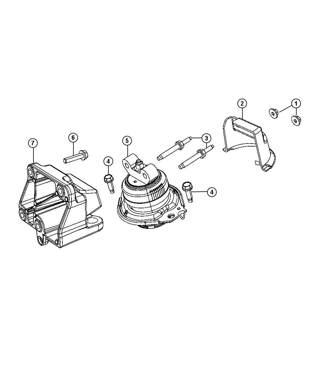 Chrysler 300 Cushion Engine Support Left Side