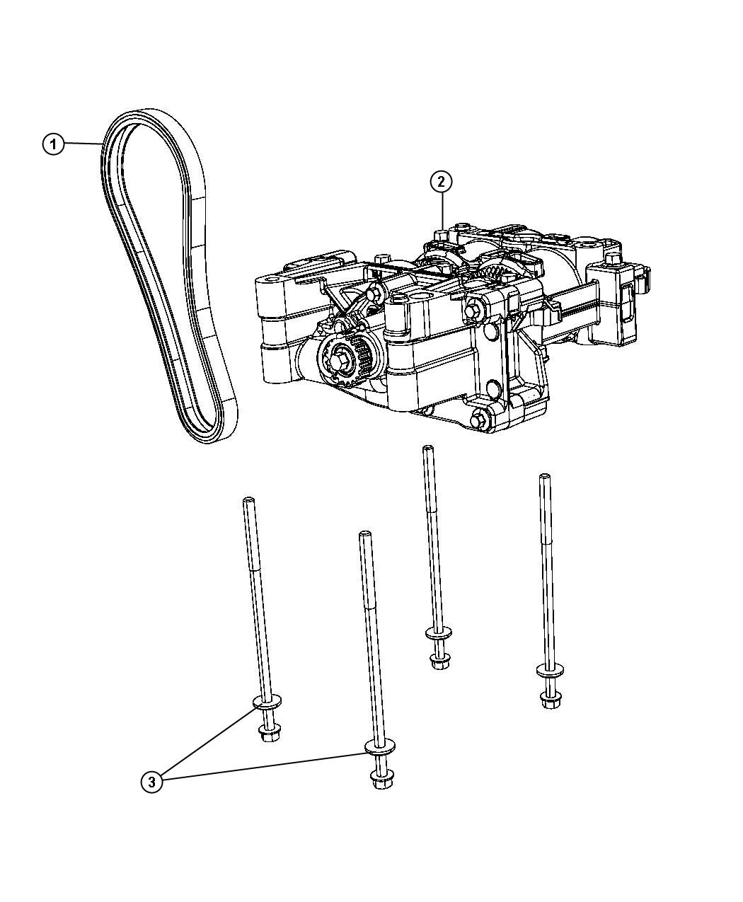 Dodge Caliber Shaft Package Balance With Oil Pump Engine