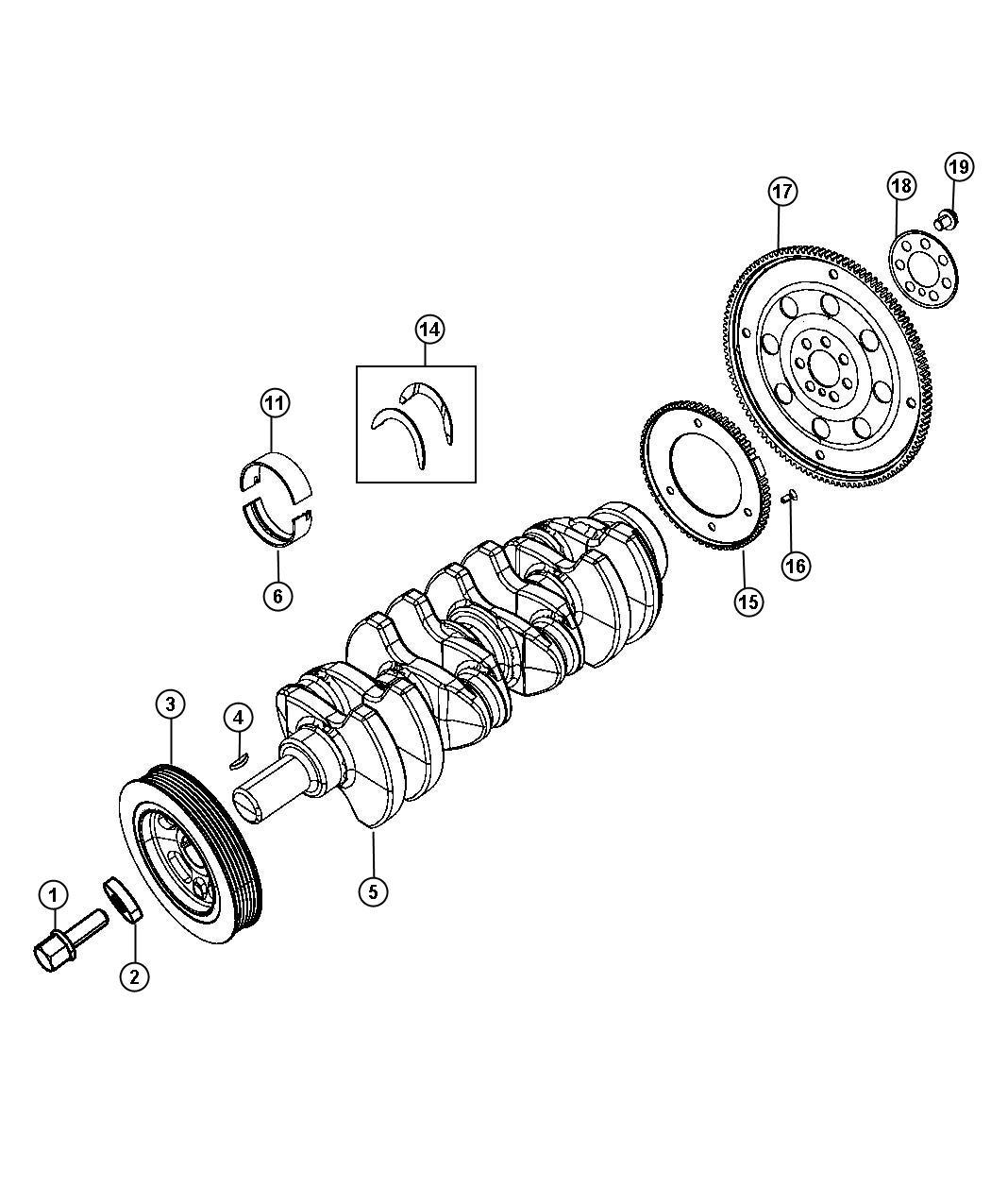 Jeep Patriot Crankshaft Kit Crankshaft Package Engine