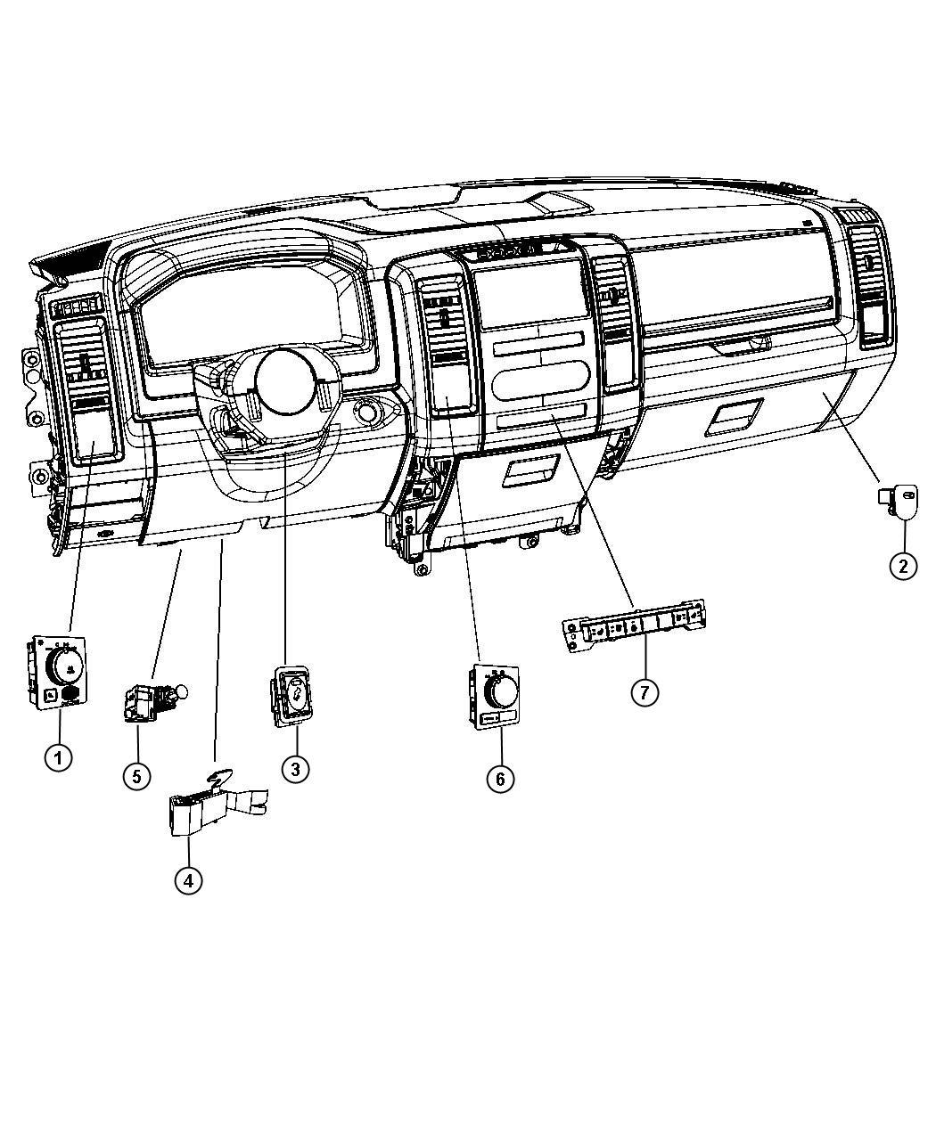 Dodge Ram Switch Instrument Panelsel
