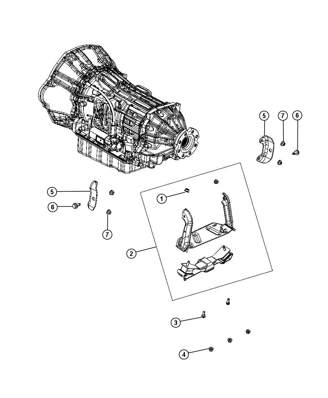 Dodge Ram Bracket Transmission Mount Engine