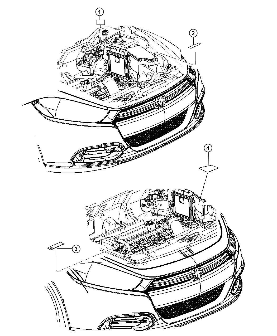 Dodge Dart Label Air Conditioning System Air