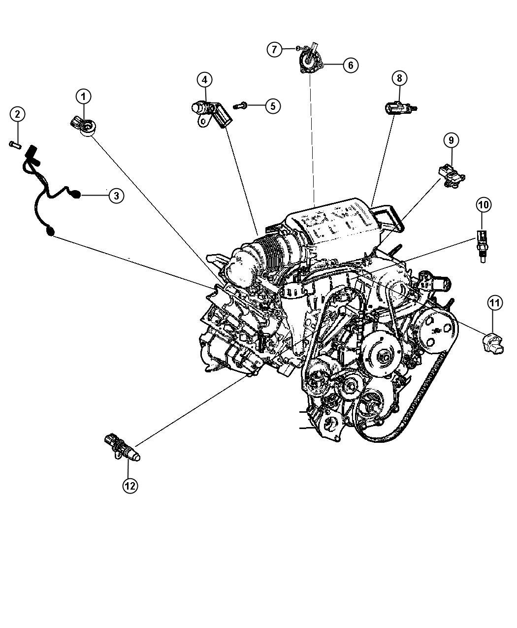 Dodge Durango Screw M5x 8x20 Mounting Hbarear Pvc