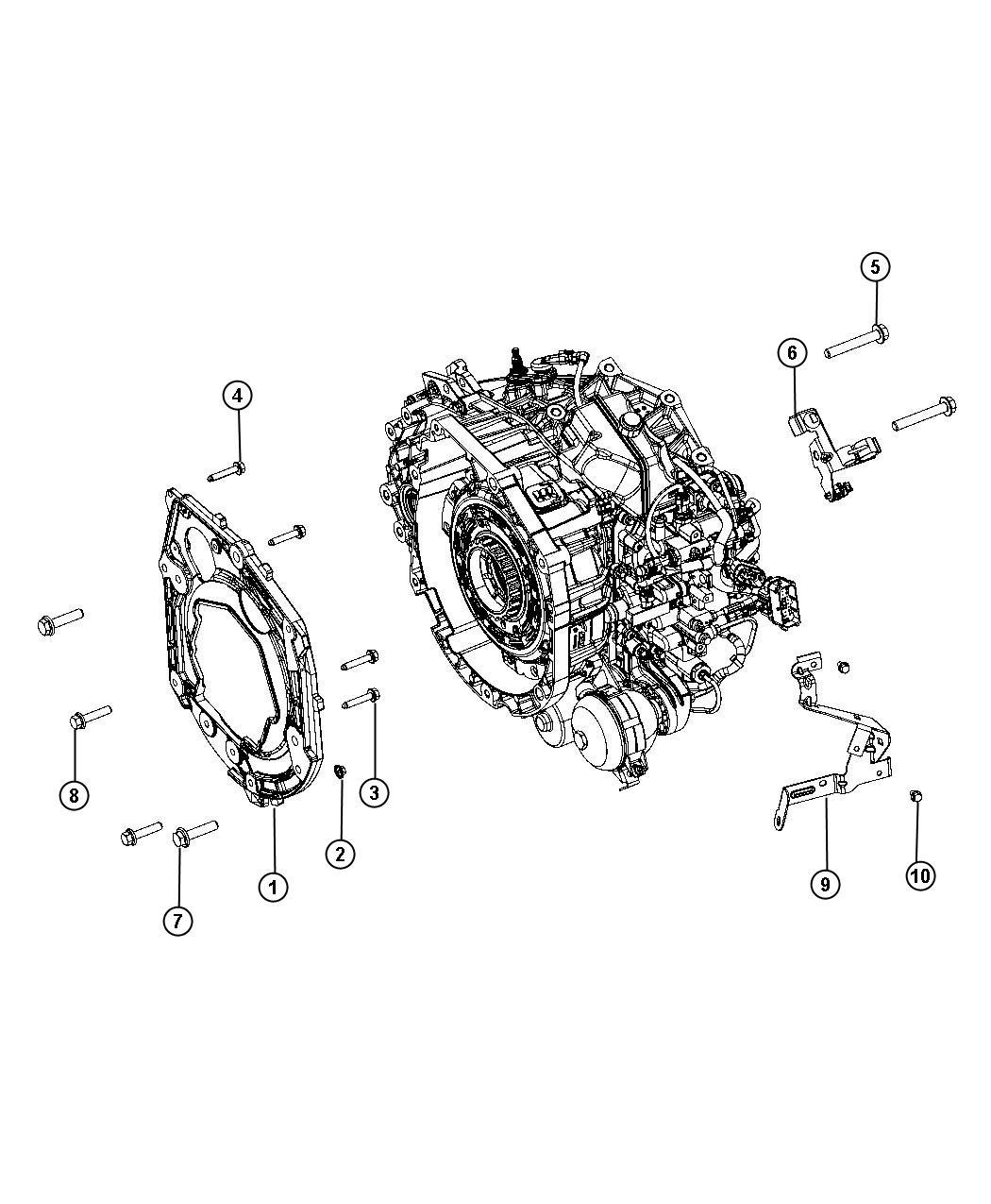 Dodge Dart Nut Hex M12x1 25 Engine Mounting