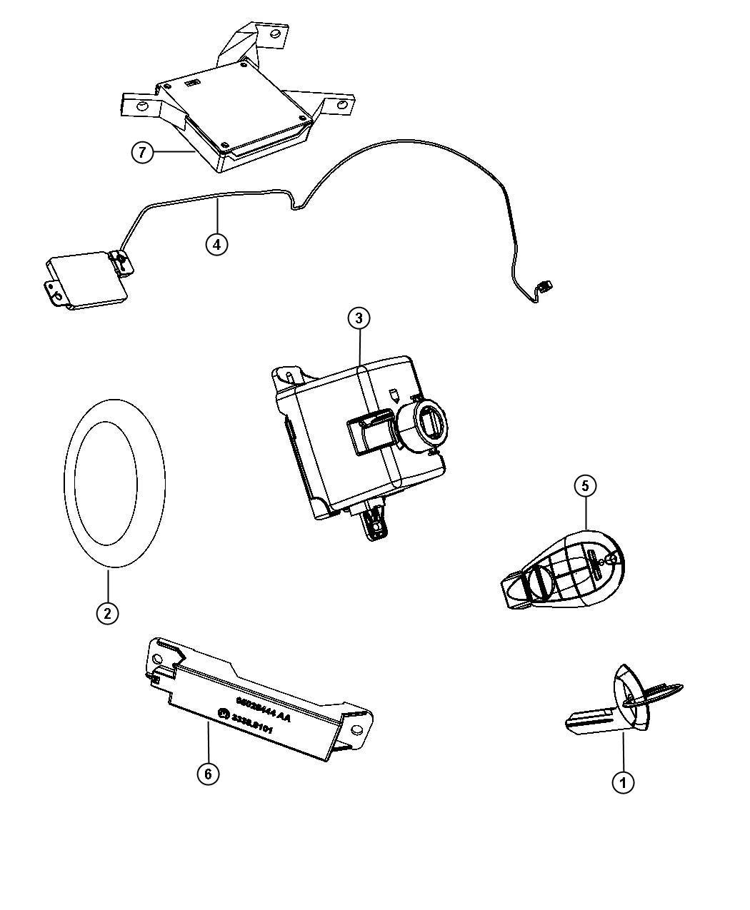 Jeep Grand Cherokee Transmitter Integrated Key Fob