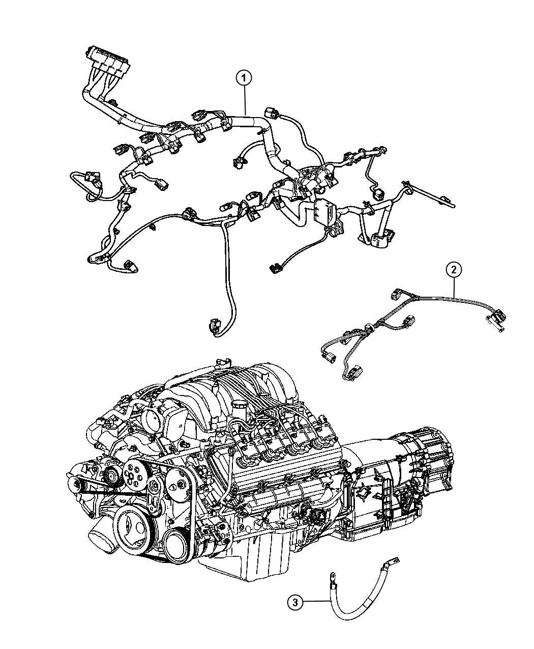 Jeep Grand Cherokee Wiring Engine Gas Powertrain Mopar