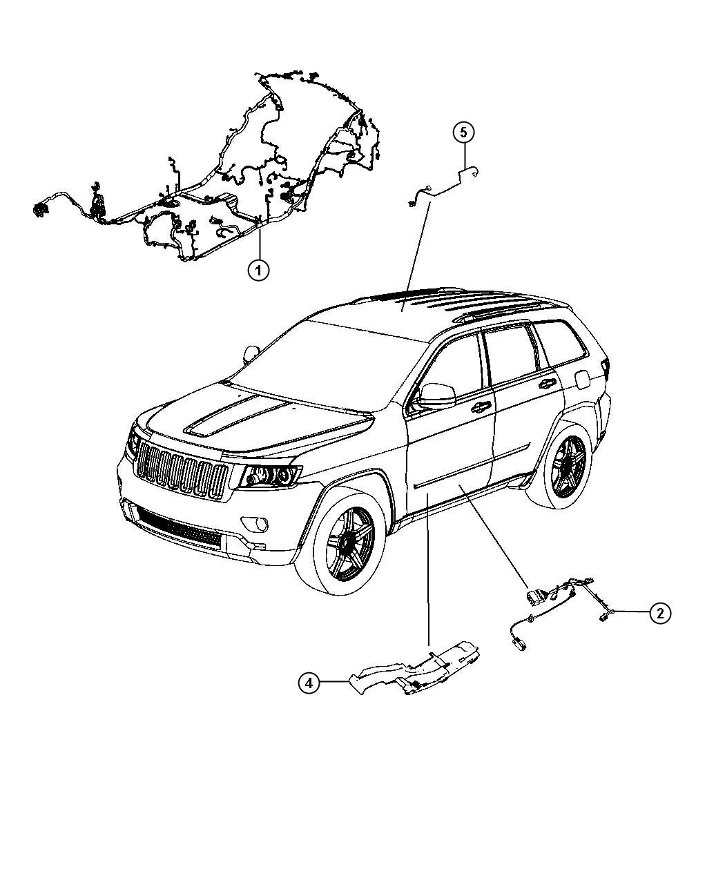 Jeep Grand Cherokee Wiring Body Export 6 Speakers 6