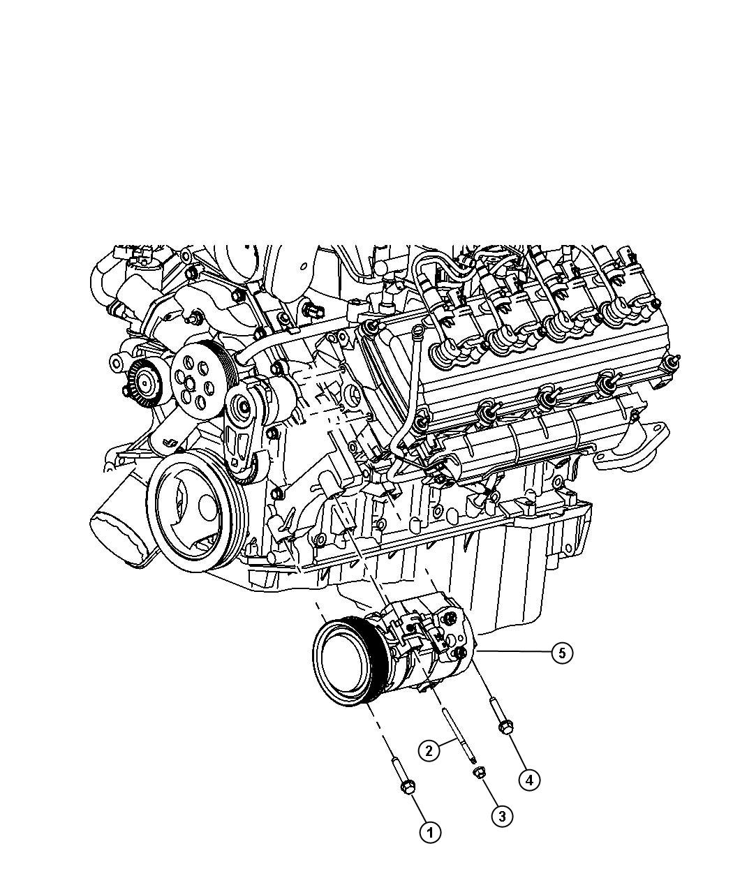 Dodge Durango Bolt Hex Flange Head M8 1 25x100