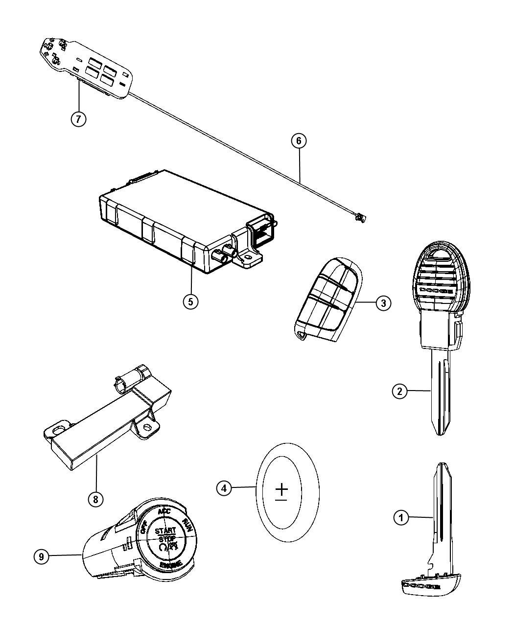 Dodge Journey Antenna Used For Remote Start And Keyless